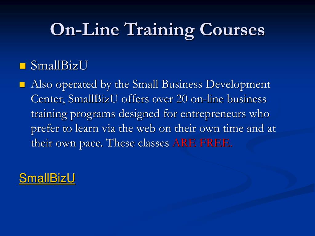 On-Line Training Courses