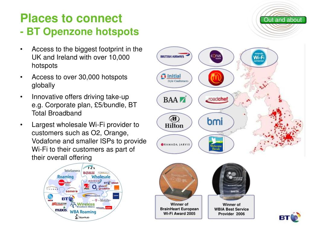 Access to the biggest footprint in the UK and Ireland with over 10,000 hotspots