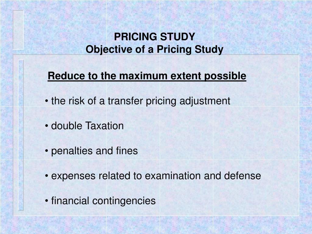 PRICING STUDY