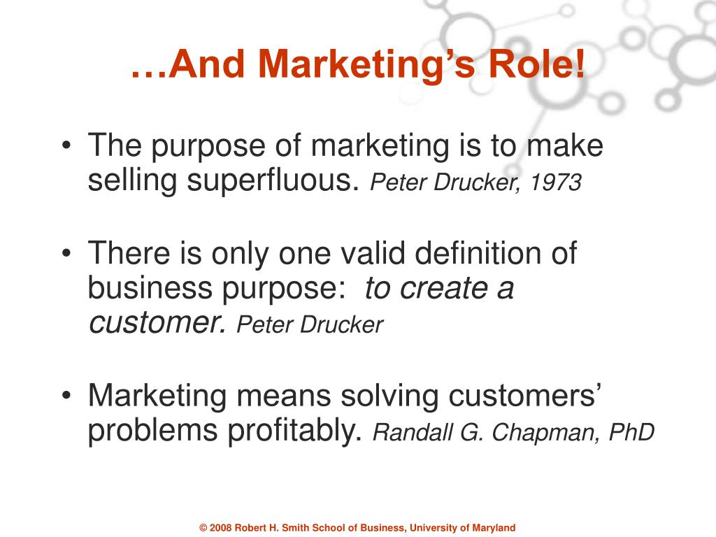…And Marketing's Role!