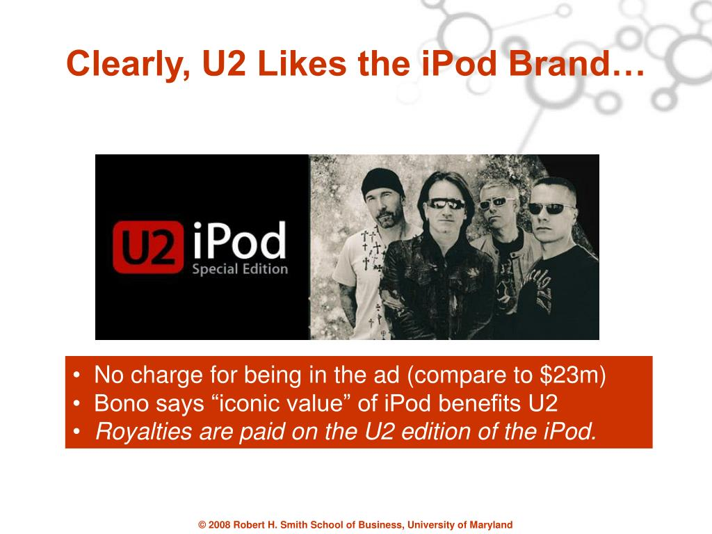 Clearly, U2 Likes the iPod Brand…