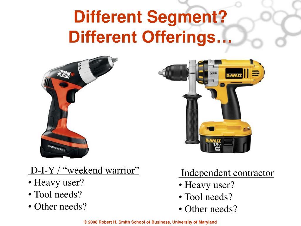 Different Segment?