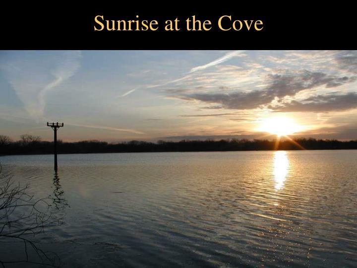 Sunrise at the Cove