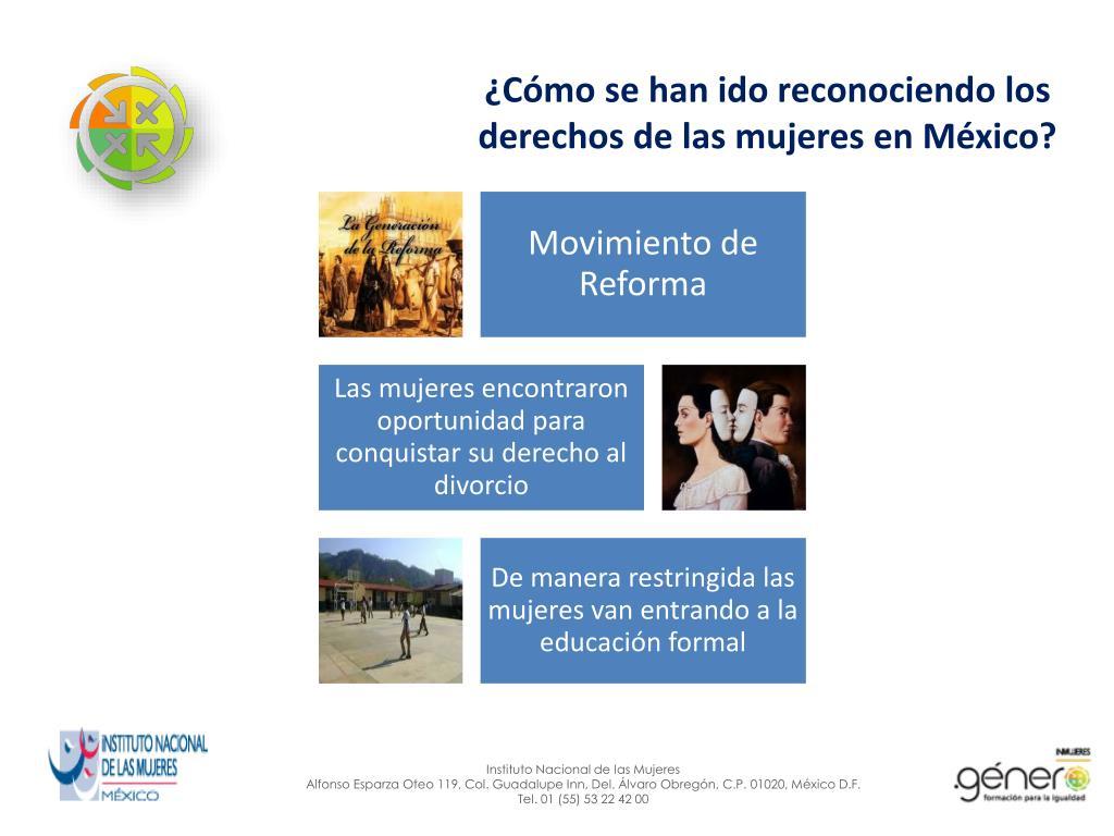 ¿Cómo se han ido reconociendo los derechos de las mujeres en México?