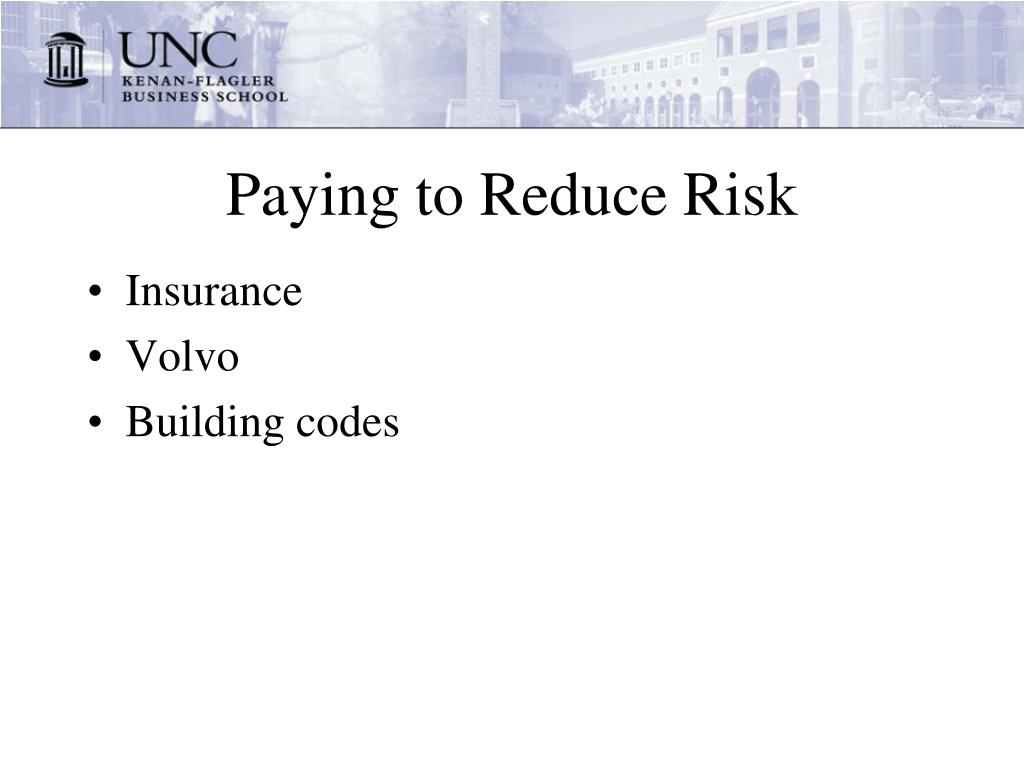 Paying to Reduce Risk
