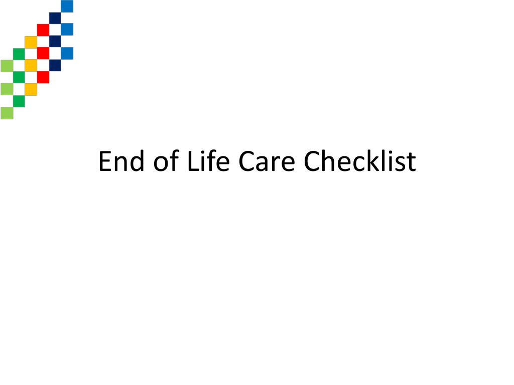 End of Life Care Checklist