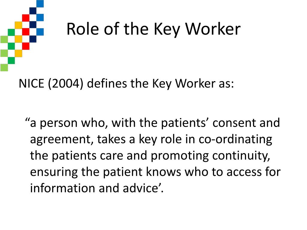Role of the Key Worker