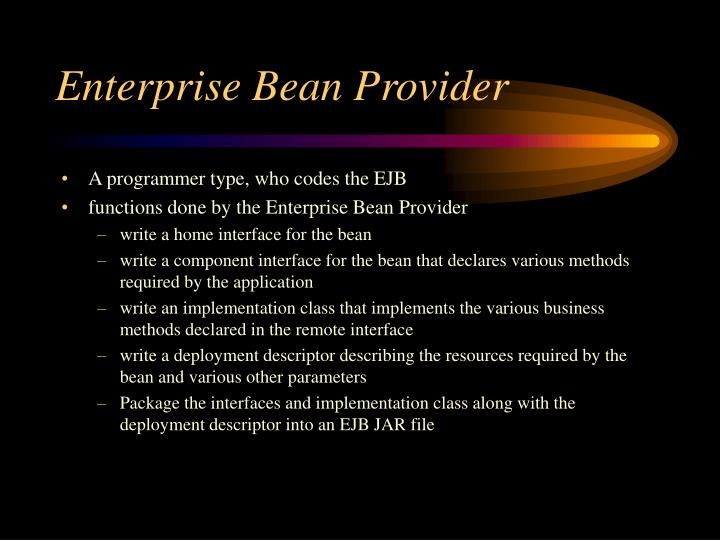 Enterprise bean provider