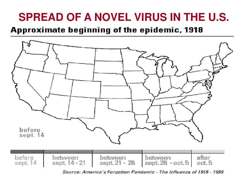 SPREAD OF A NOVEL VIRUS IN THE U.S.