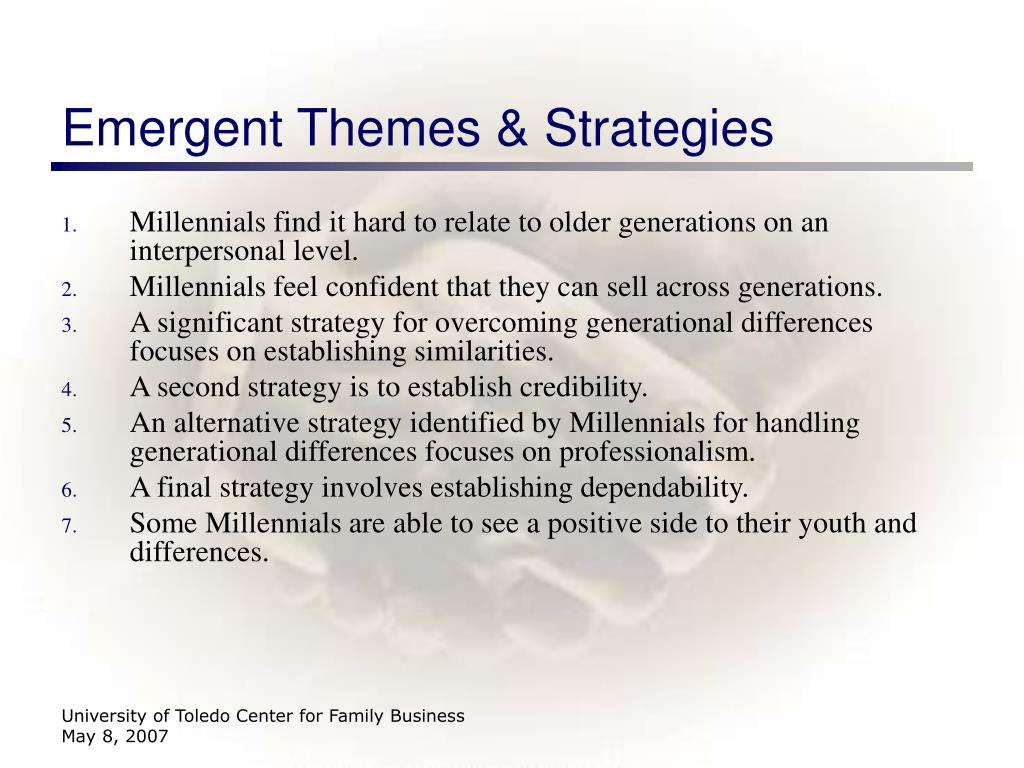 Emergent Themes & Strategies