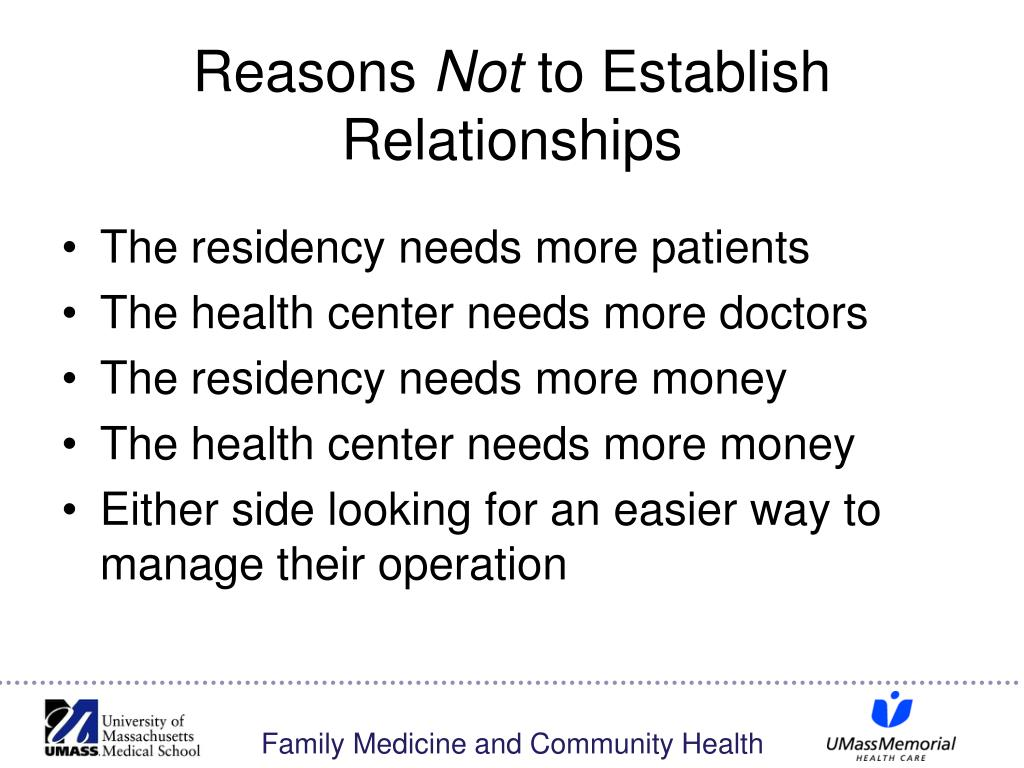 The residency needs more patients