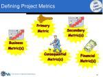 defining project metrics