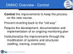 dmaic overview control