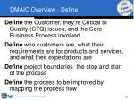 dmaic overview define