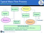 typical m ass flow process maximize efficiency and economies of scale