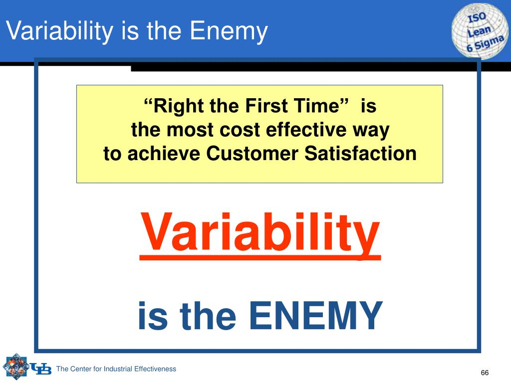 Variability is the Enemy