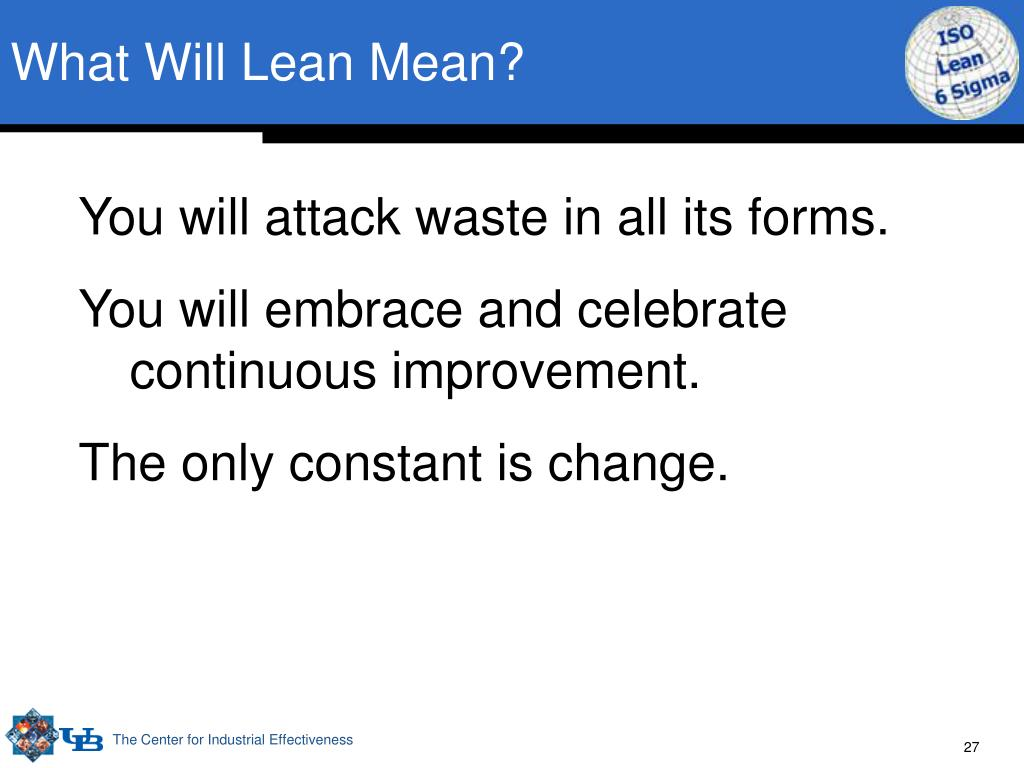 What Will Lean Mean?