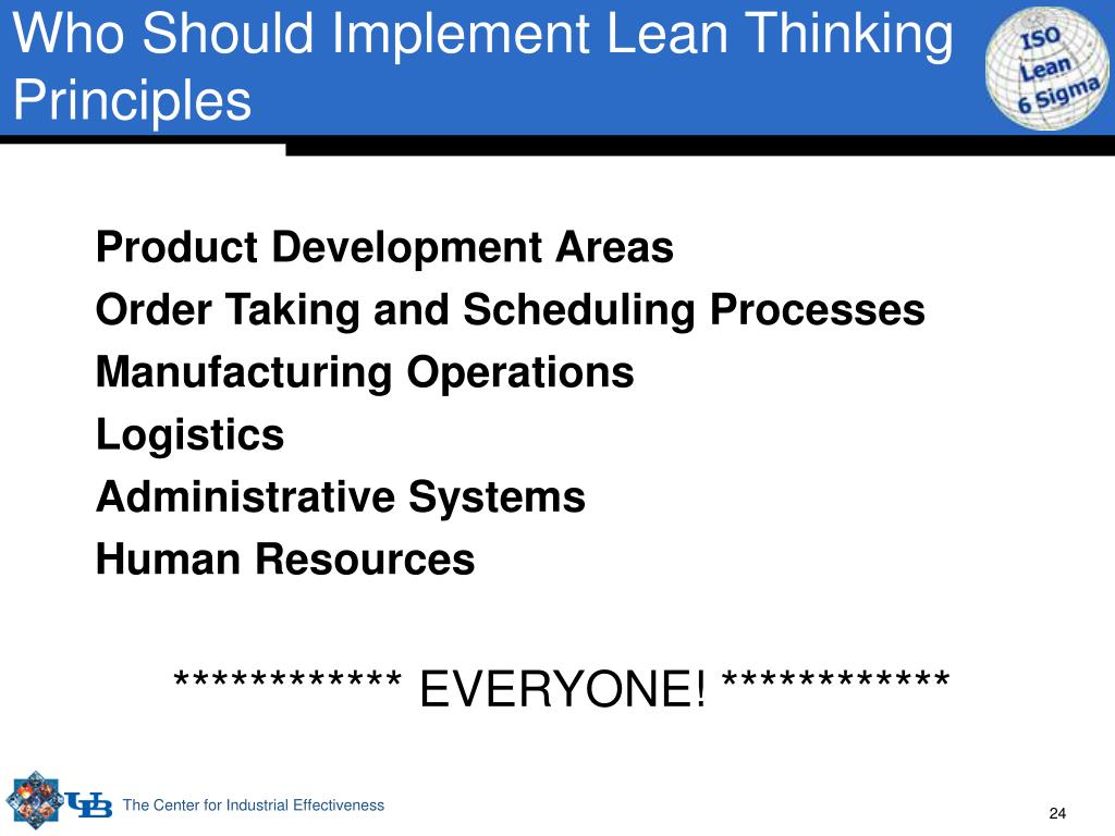 Who Should Implement Lean Thinking Principles