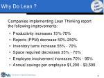 why do lean