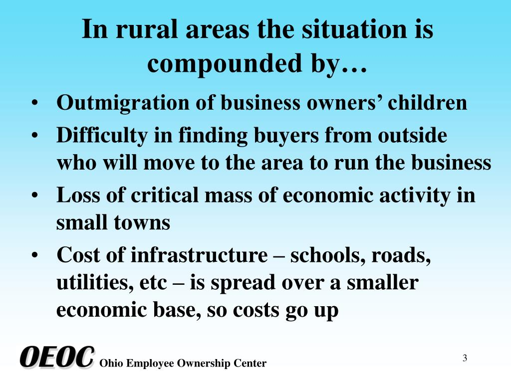 In rural areas the situation is compounded by…