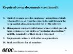required co op documents continued