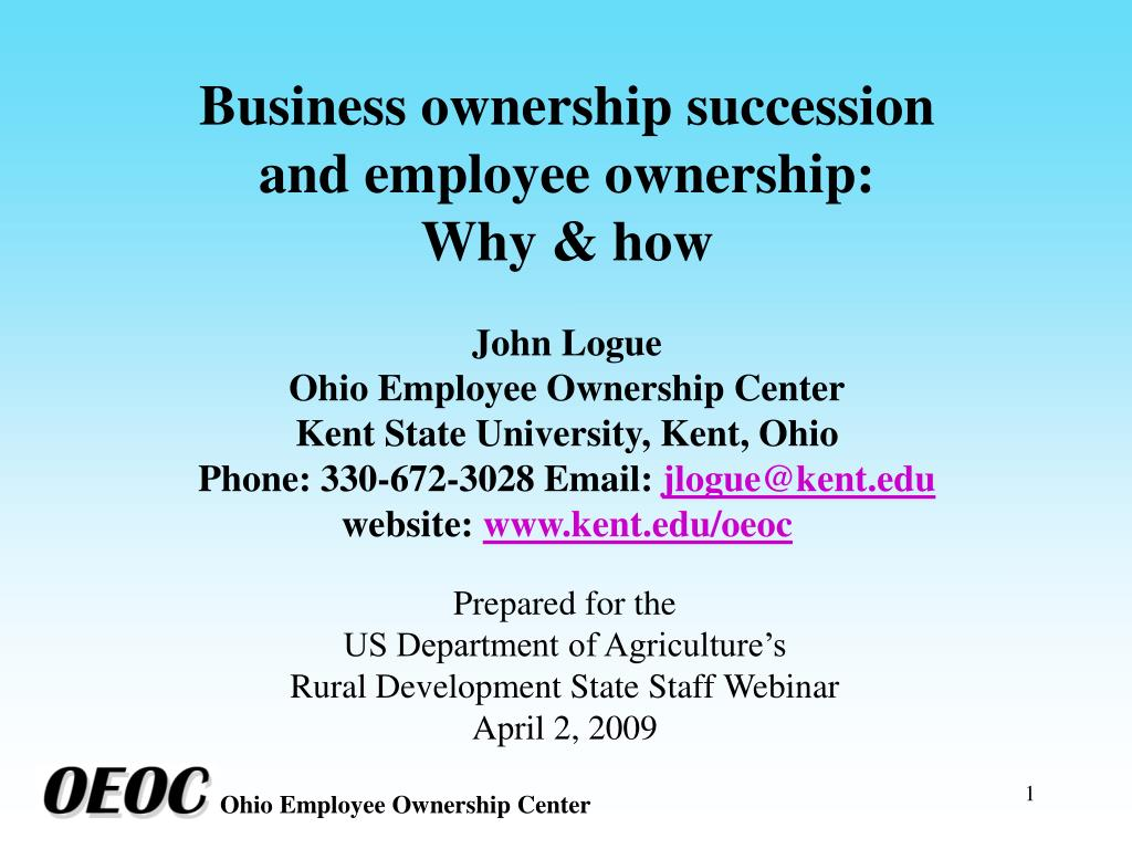 Business ownership succession