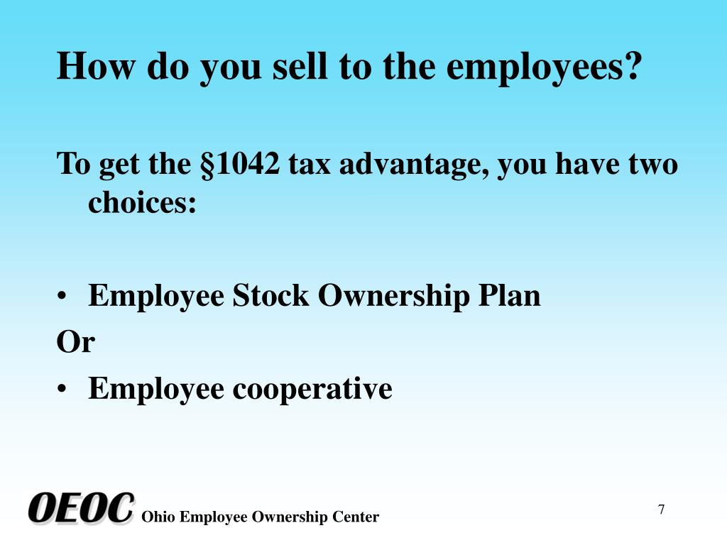 How do you sell to the employees?