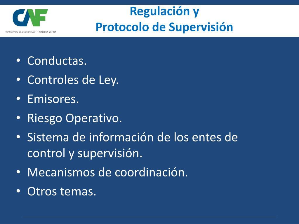 Regulación y