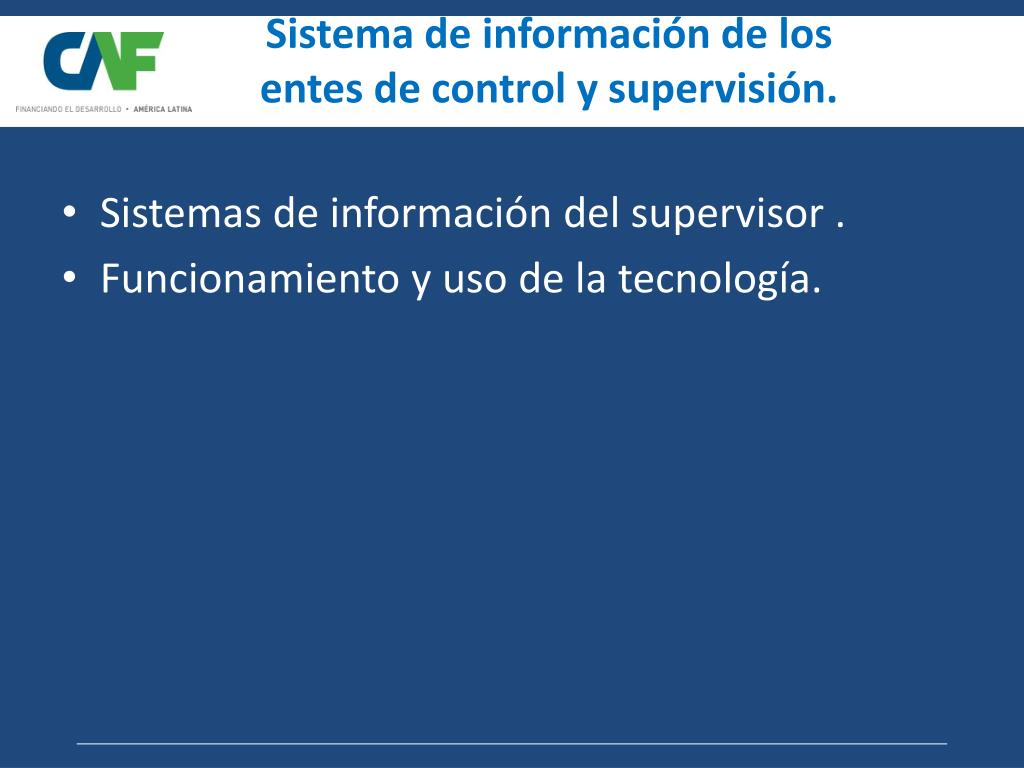 Sistema de información de los
