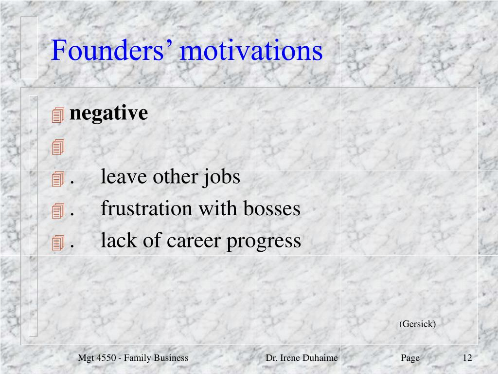 Founders' motivations