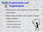 expectations and exploitations