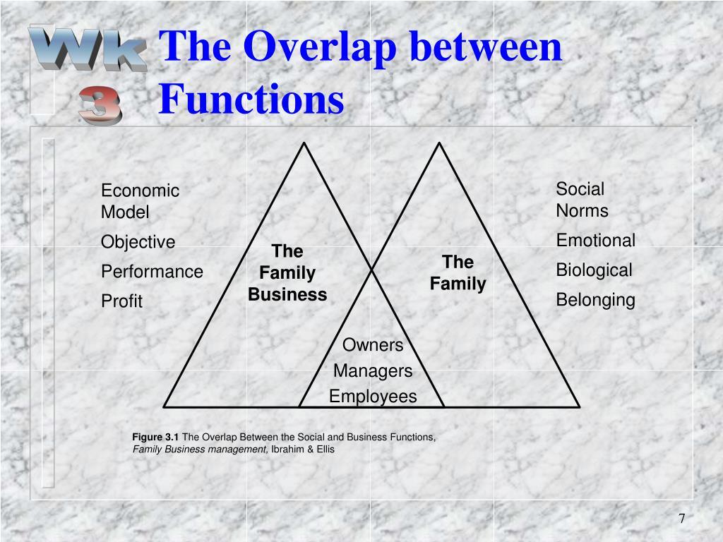 The Overlap between Functions