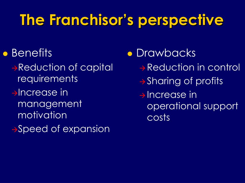 The Franchisor's perspective