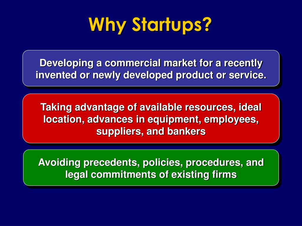 Why Startups?