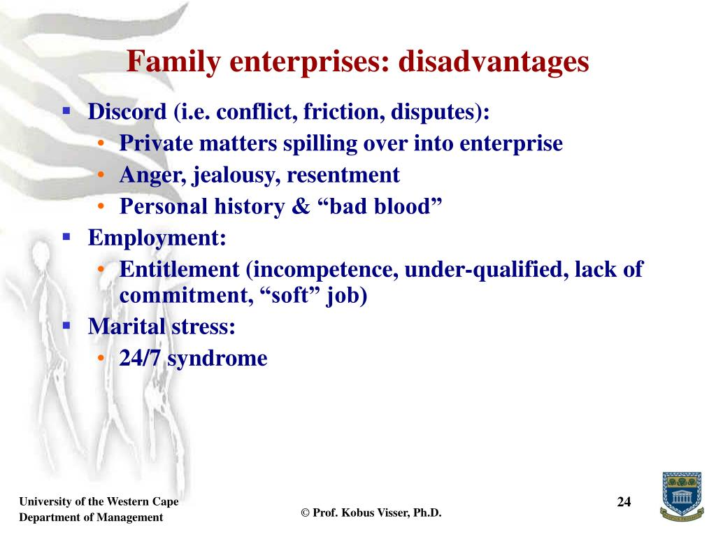 Family enterprises: disadvantages