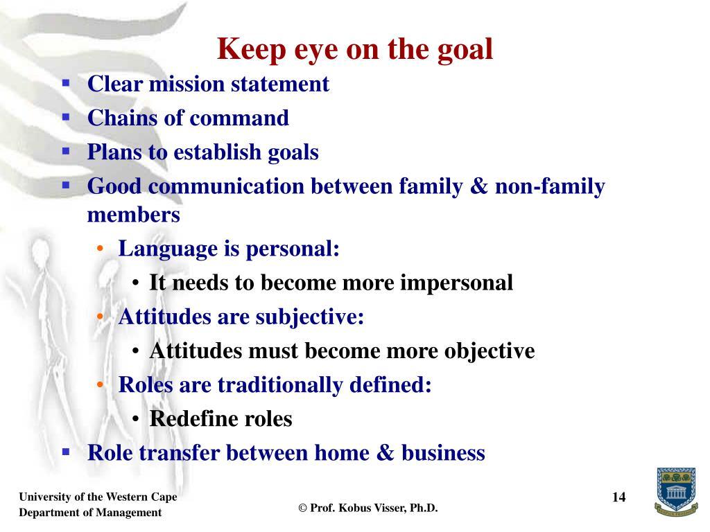 Keep eye on the goal