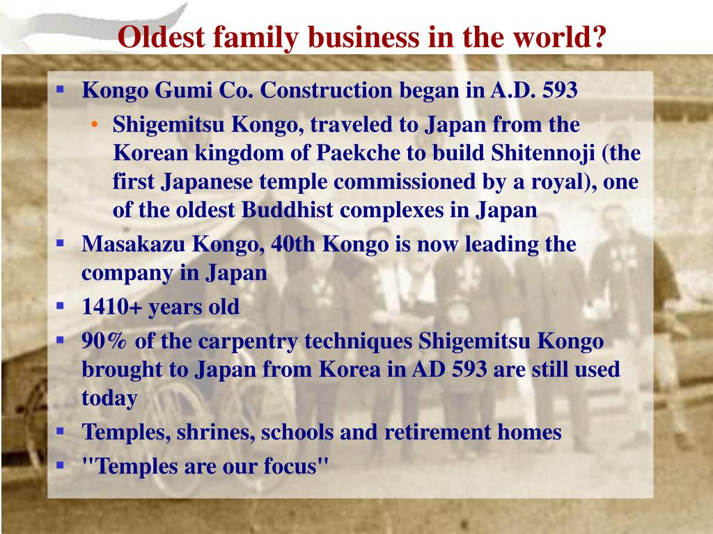 Oldest family business in the world?