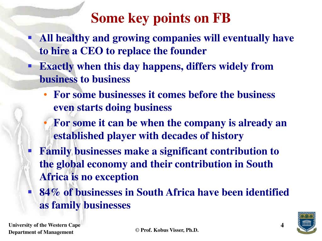 Some key points on FB
