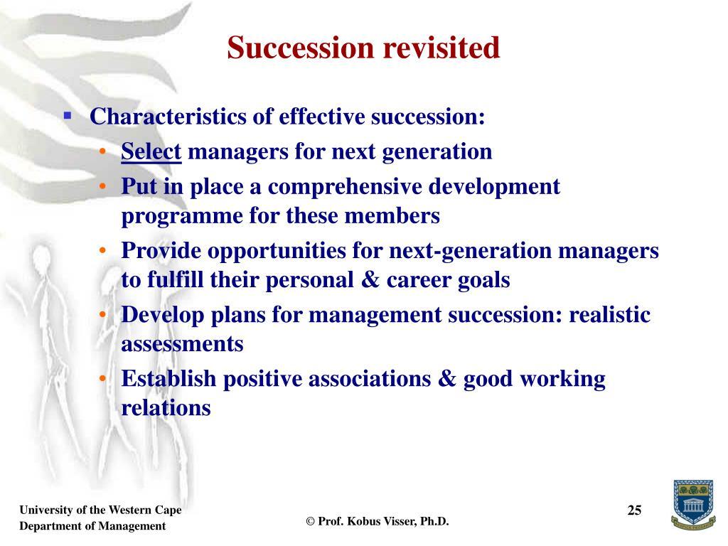 Succession revisited