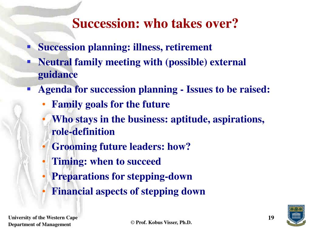 Succession: who takes over?