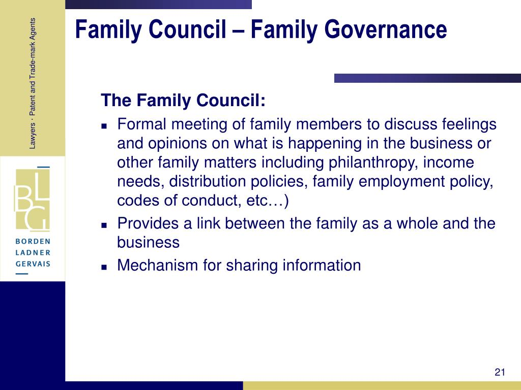 Family Council – Family Governance
