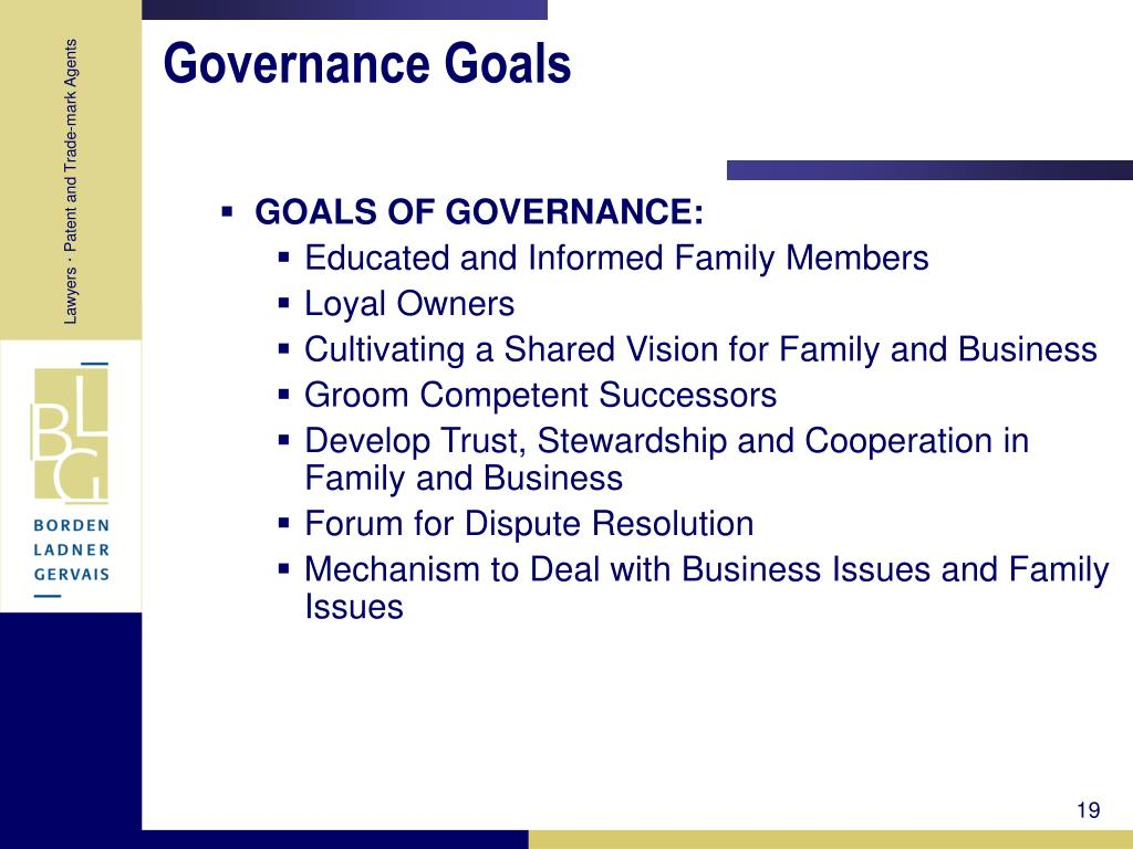 Governance Goals