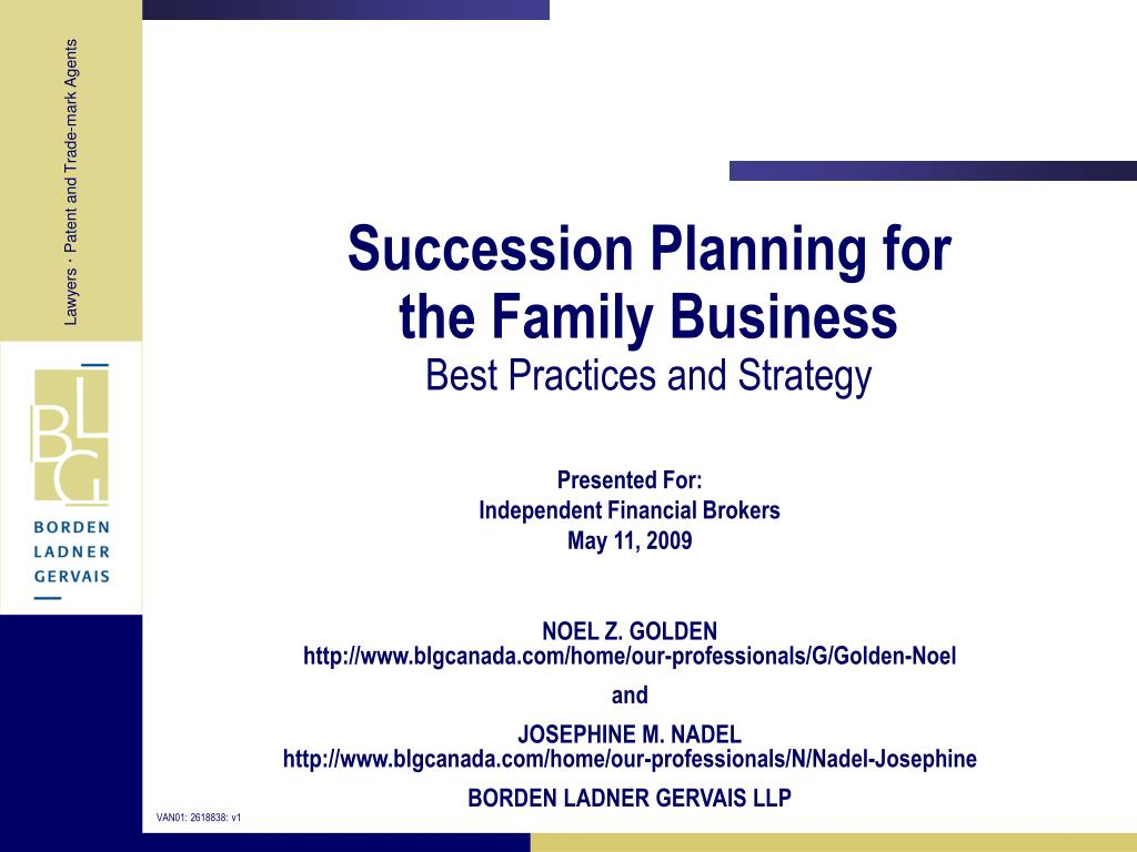 Succession Planning for
