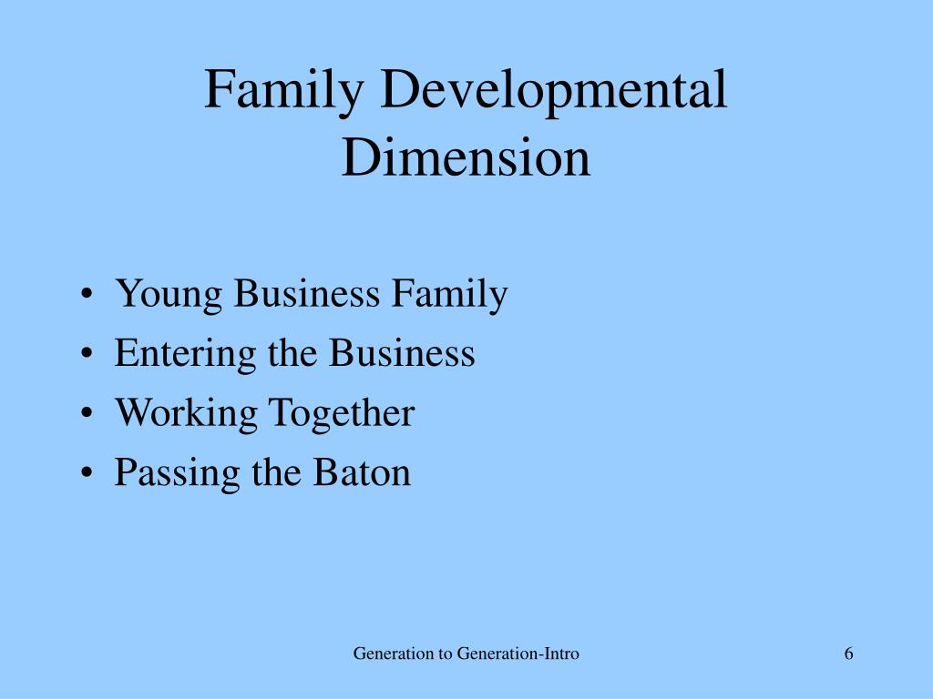 Family Developmental Dimension