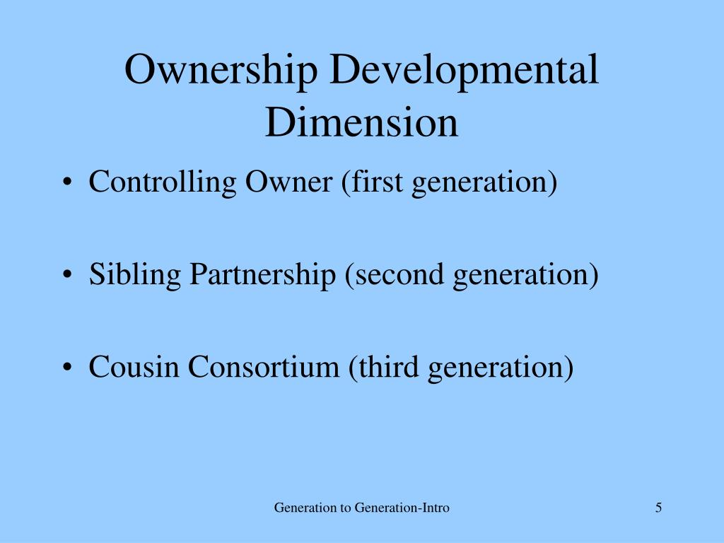Ownership Developmental Dimension