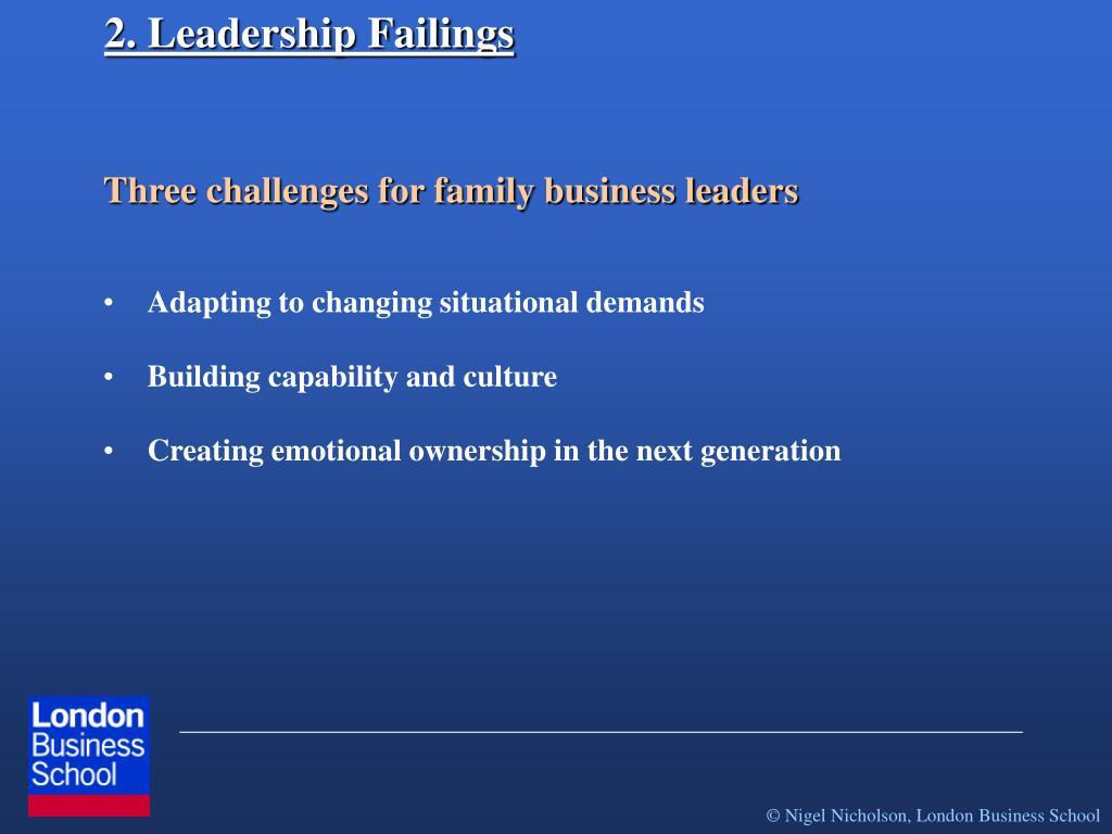 2. Leadership Failings