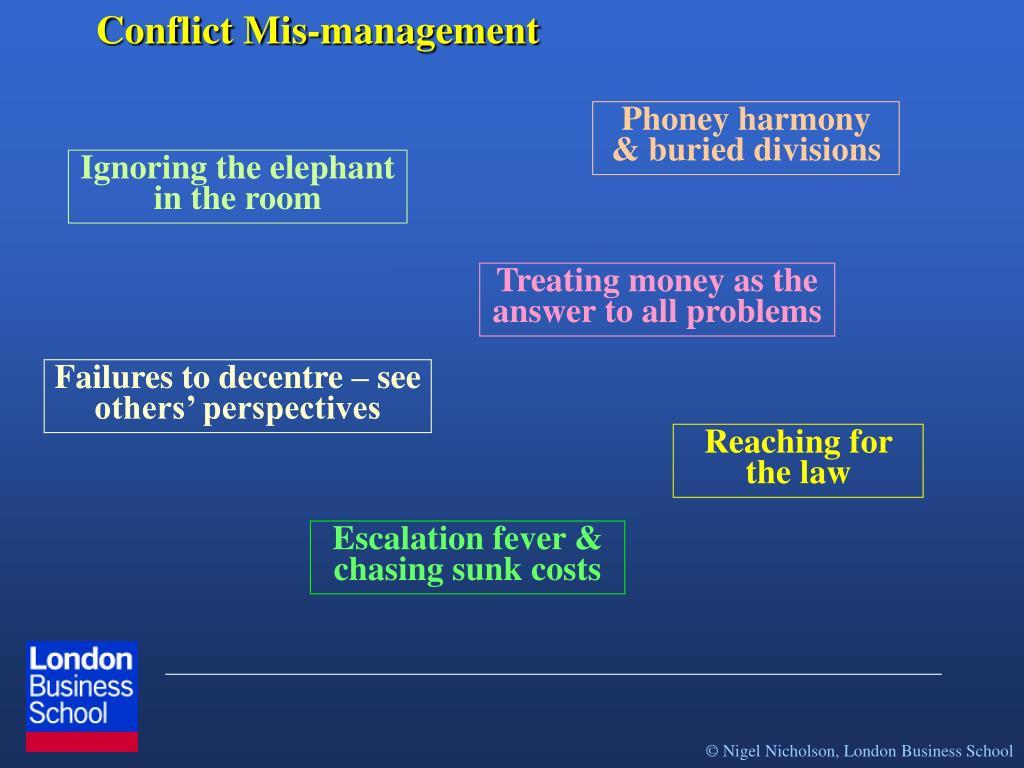 Conflict Mis-management