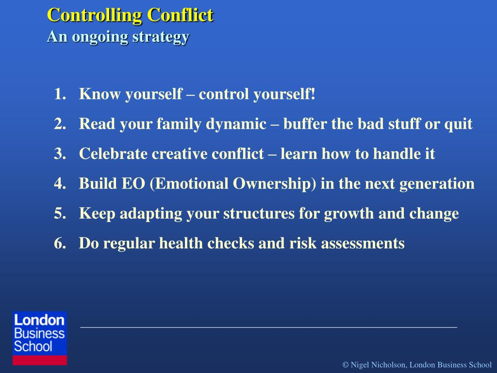 Controlling Conflict