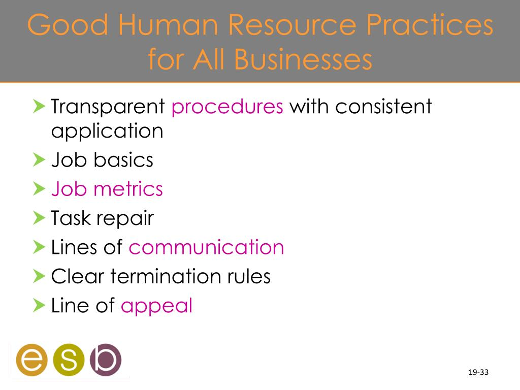 Good Human Resource Practices for All Businesses