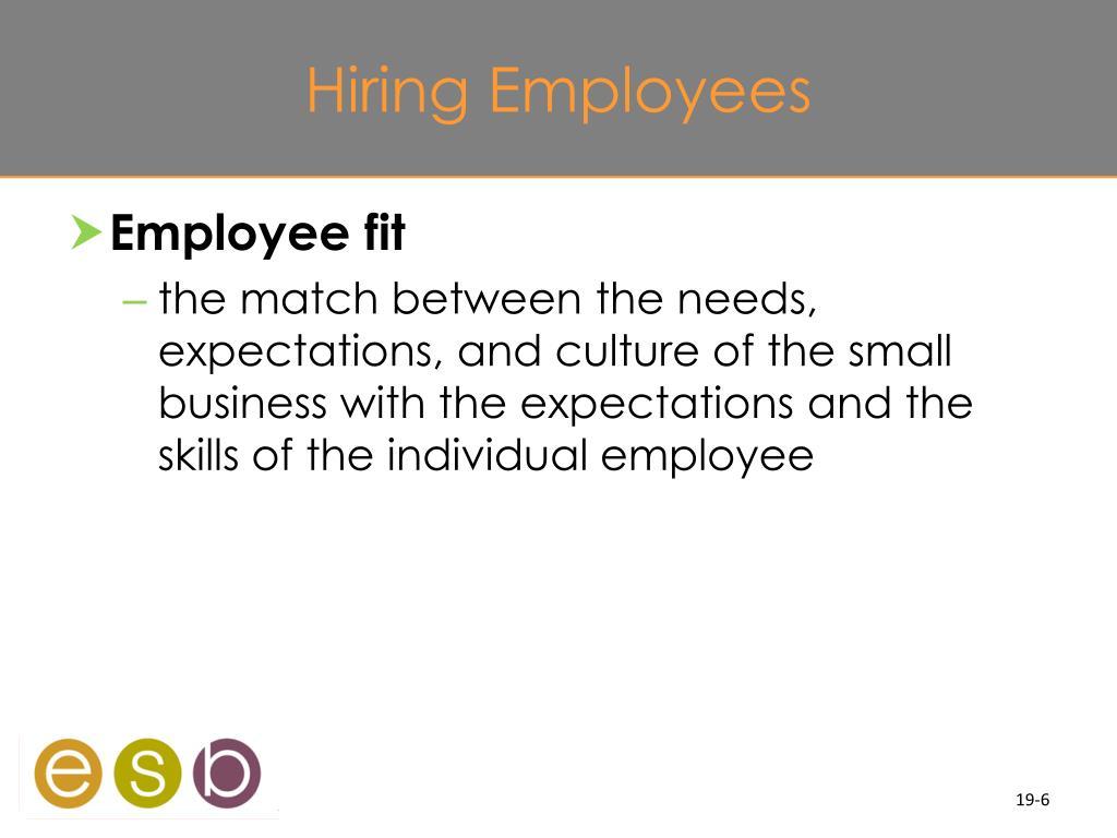 Hiring Employees